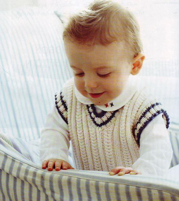Вязанные жилеты для детей