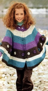 вязаное пончо для детей