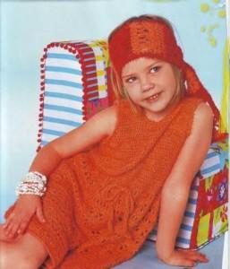 картинки вязаных детских платьев