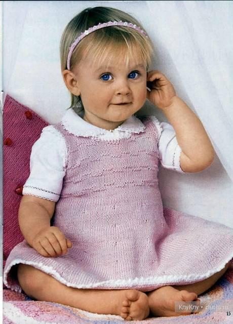 вязание спицами сарафан детский.