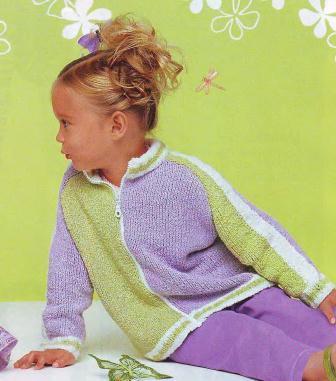 схема вязания кофты для девочки. вязание для девочек 5-7 лет.