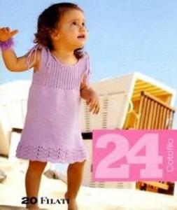 летние детские вязаные сарафаны