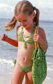 вязаная детская сумка на лето