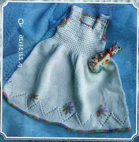 вязание детских платьев и сарафанов
