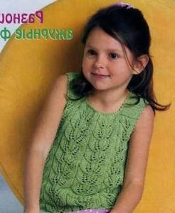 вязание детских летних кофточек