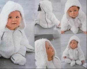 вязаный костюм для младенца