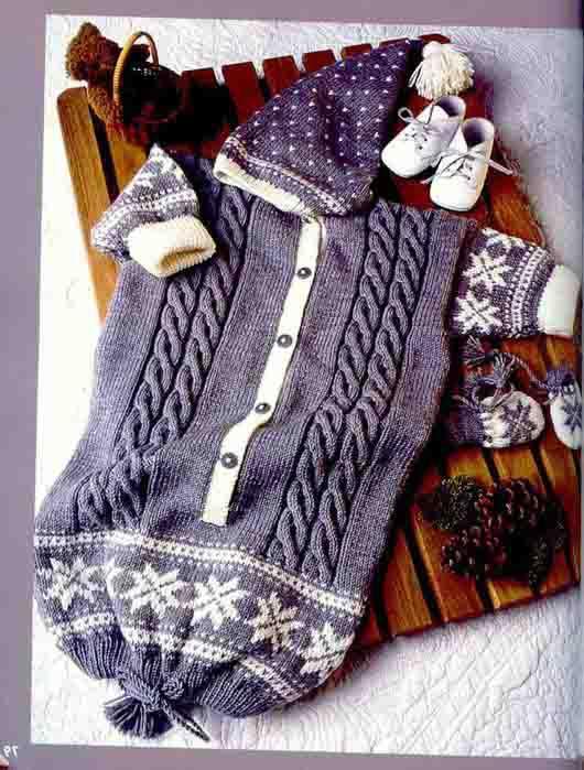 Теги: вязание детское конверт для новорожденного.  Основной узор: вязать по схеме.  В ширину начинать петлей перед...