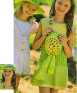 вязаное платье с описанием летнее