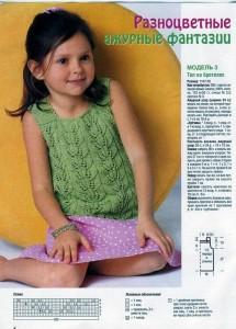схемы вязания детских летних кофточек