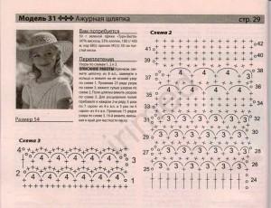 вязанная детская летняя панама