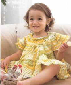 Детский летний вязаный сарафан