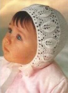 Вязаная шапочка детям до года