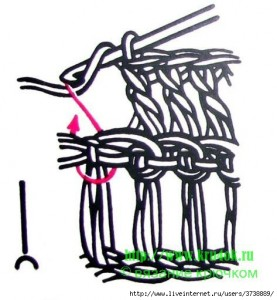 схема вязаного берета крючком