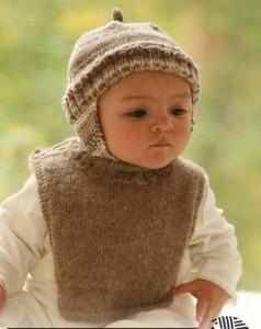 Теплая шапочка для новорожденного