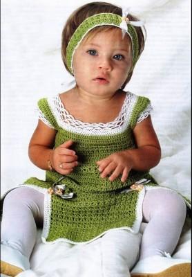 Вязаная повязка для вашего дитя