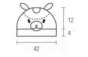 схема шапочки крючком в форме свинки