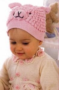 шапочка для младенца крючком
