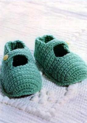 Вязаные туфельки крючком