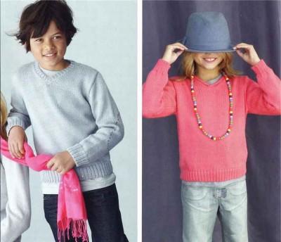 Вязание детского пуловера
