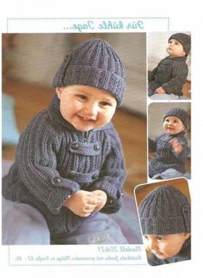 Вязание жакета для мальчика