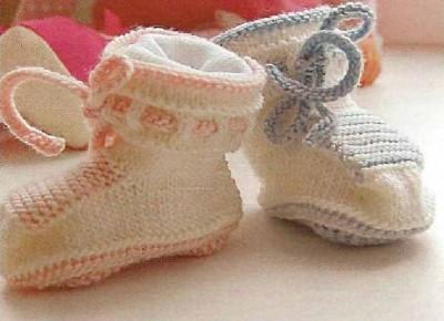 Вязаные кеды для малыша