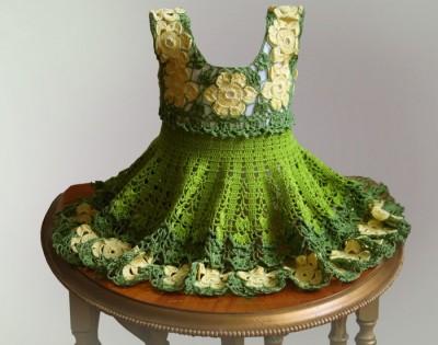 модные вязаные детские платья