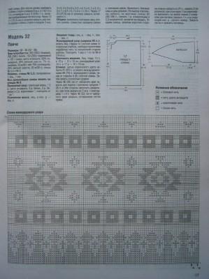 Схема вязаной накидки пончо
