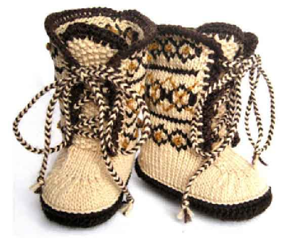 Вязание пинеток и носок для дете спицыми - Master class.
