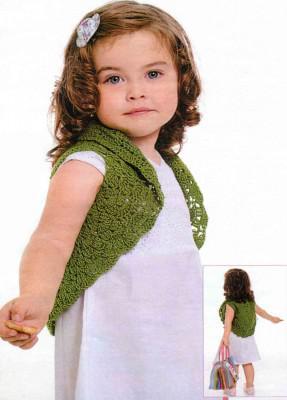 Болеро вязаное крючком для девочки