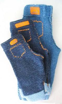 вязаные джинсы