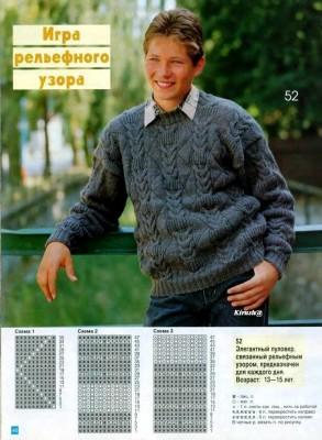 Вязание для мальчиков подростков