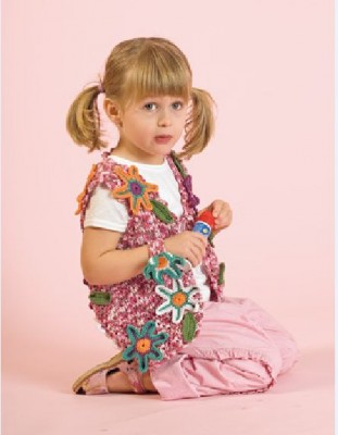 вязаный жилет для девочки