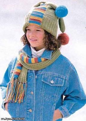 Детские шарф и шапочка