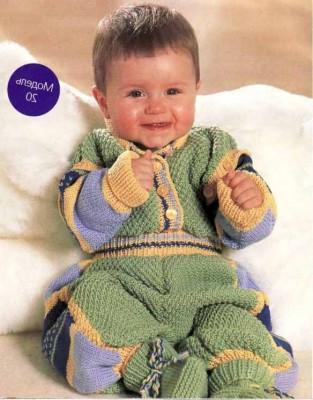 описание вязание комбинезона для новорожденного