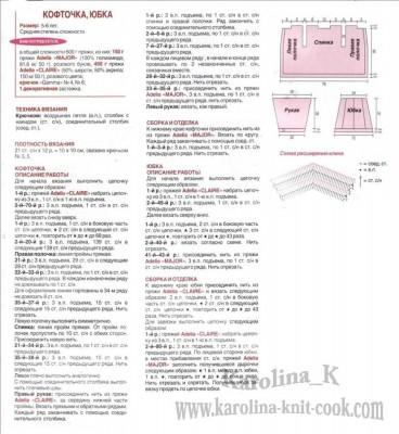 Схема вязания детской юбки крючком