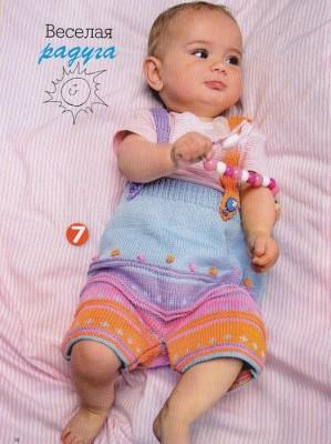 Вязаные штанишки для малышей