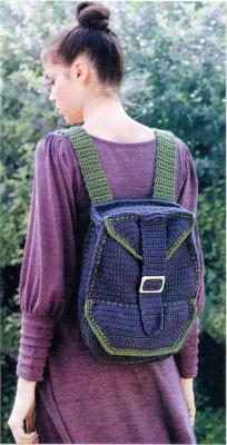Вязаный крючком рюкзак