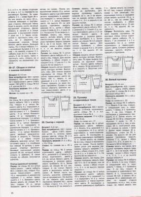 Схема и описание вязаных свитеров