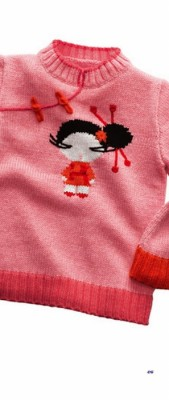 Пуловер в японском стиле