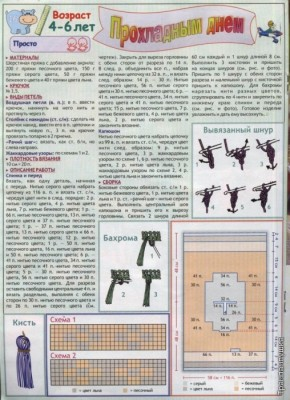 Схема вязаного пончо крючком