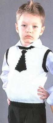 Оригинальная жилетка с галстуком