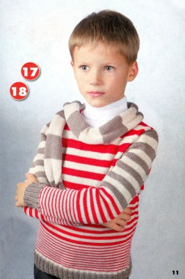 Свитер и шарф для мальчика