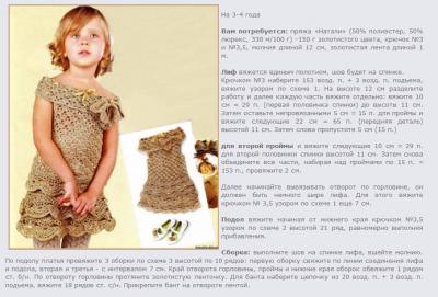 Золотое платье - как вязать, инструкция