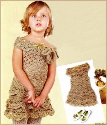 Золотое вязаное платье