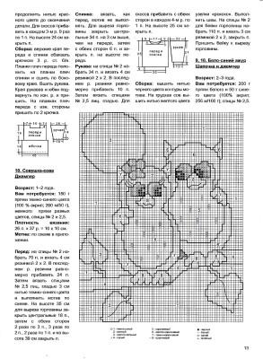 Схема вязания детского джемпера с рисунком