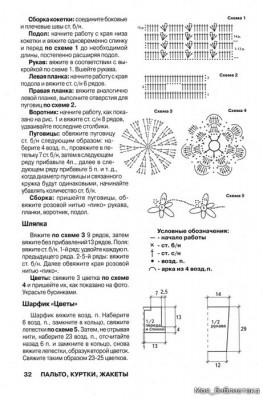 Выкройки и схема вязания