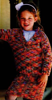 Яркий костюм – юбка и пуловер