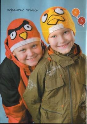Шапочки для мальчиков Angry Birds