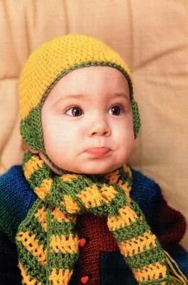 Шапочка и шарф для тех, кто вяжет крючком