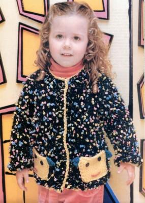 Нарядная яркая кофточка для девочки 2 лет
